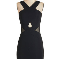 ModCloth Mid-length Sleeveless Bodycon Downtown Drinks Dress