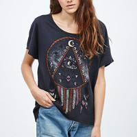 Title Unkown Mystic Dreamcatcher Tee in Black - Urban Outfitters