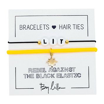 Lit Elastic Hair Tie and Bracelet By Lilla