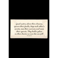 Good Sisters Share Their Dreams Decoupage Glass Tray