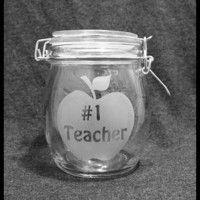 Teacher Appreciation -  Number 1 Teacher Canister