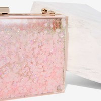 Skinnydip London Find It in Your Heart Clear Clutch
