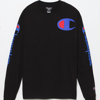 Champion Script Black Long Sleeve T-Shirt at PacSun.com