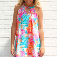 Belize Me Watercolor Dress