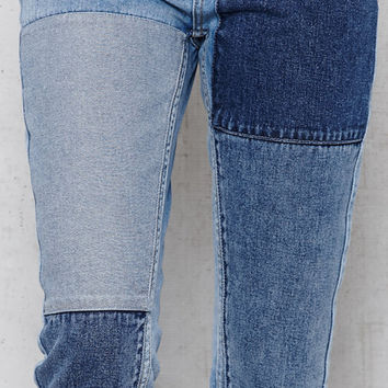 PacSun Indigo Patches Patched Mom Jeans at PacSun.com