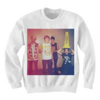 5 SECONDS OF SUMMER SWEATSHIRT 5SOS GROUP PHOTO 5SOS INDIE BAND INDIE MUSIC 5SOS MERCH from CELEBRITY COTTON