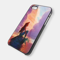 Case iphone 4 and 5 for Ariel The Little Mermaid Sunset