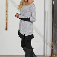 Remarkably Relaxed Tunic - Heather Grey