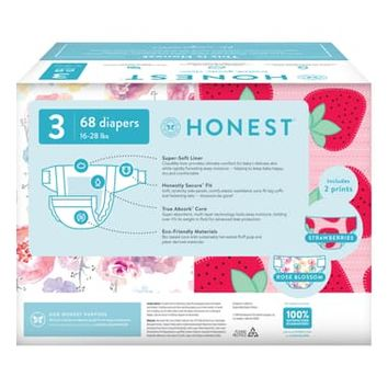 The Honest Company Rose Blossom/Strawberries Size 3 Club Box Diapers | Nordstrom