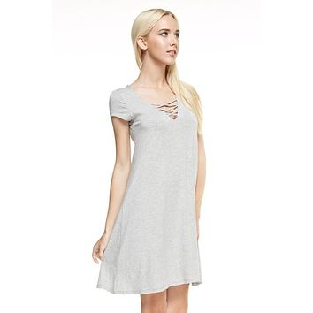 Lainey Lace Up Dress