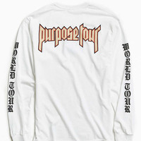 Justin Bieber Purpose Tour Long-Sleeve Tee - Urban Outfitters
