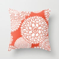 Delightful Doilies - Bittersweet Throw Pillow by Heather Dutton