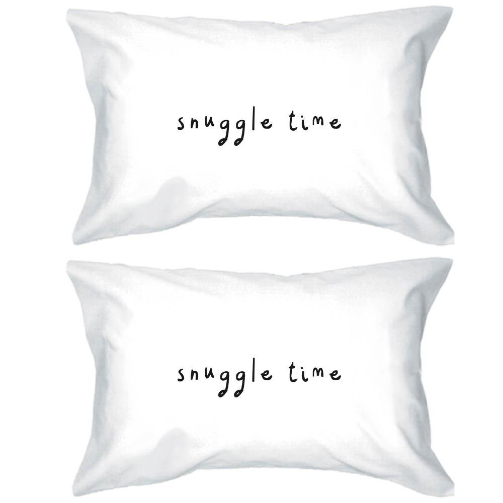 Image of Bold Statement Pillowcases 300T Count Standard Size 20 x 31 – Snuggle Time