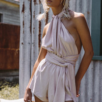 Suede Wrap Playsuit - Playsuits by Sabo Luxe