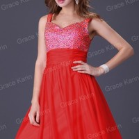 USA STOCK Sexy New Chiffon Evening Formal Prom Party Ball Gown Bridesmaid Dress