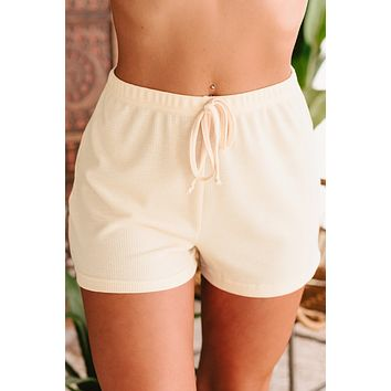 Finding Hope Textured Lounge Shorts (Sand)