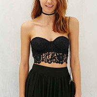 Kimchi Blue Stella Chemical Lace Strapless Bra Top-