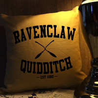 Ravenclaw quidditch harry potter throw pillow cover