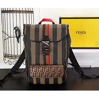 FENDI FF ZUCCA CANVAS Roma Amor BACKPACK BAG