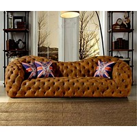 Modern Leather Sofa Couch Chesterfield Sofa Big Seat