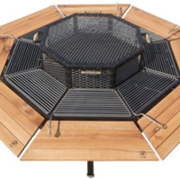 Purchase Luxury Grill, FirePit, Grill, BBQ, Table, FirePit Grill, FirePit Table, Luxury FirePit, Charcoal Grill, Wooden Grill, Man Grill, Park Grill, Heavy Duty Grill, Dome Grill, 8 Person