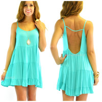 Wynwood Jade Sleeveless Babydoll Dress