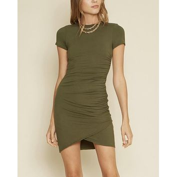Charli One Side Shirred Dress in More Colors