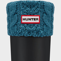 Hunter UK   Dual Cable Knit Boot Socks   Official Site