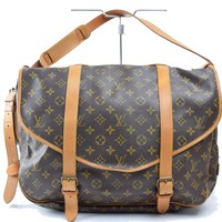Authentic Louis Vuitton Shoulder Bag Saumur 43 M42252 Browns Monogram 26571