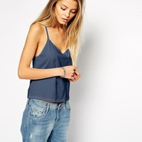 ASOS Cropped Cami Top with V Neck
