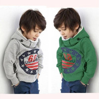 Fashion Cartoon 6 8 Baby Boys Kids Coat Hoodie Jacket Sweater Pullover Outwear [8270457793]