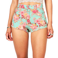 Bouquet High Waist Shorts | Cute Shorts at Pink Ice