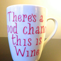 there's a chance this is Wine, Crate&Barrel Mug