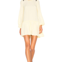 No. 21 Ruffle Bottom Dress in Banana | REVOLVE