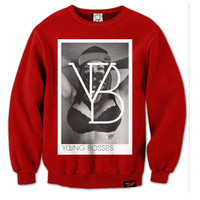 T.G.I.Fresh Clothing © — Young Bosses Crewneck in Red