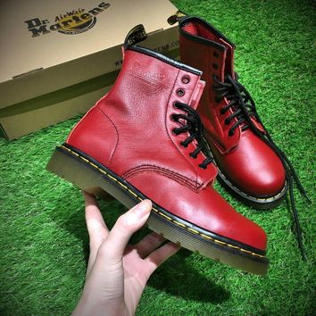 Best Online Sale Newest Dr. Martens Modern Classics 1460 Retro Red Leather Boots 524952