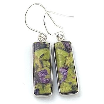 Atlantisite Sterling Silver Obling Earrings