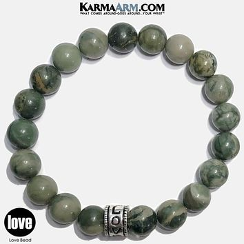 LOVE CONQUERS ALL | Green Line Jasper | Love Bracelet