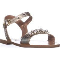 Steve Madden Dancer Flat Sandals, Gold Leather, 6 US