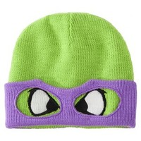 Men's Teenage Mutant Ninja Turtle Knit Cap with Mask - Assorted Colors