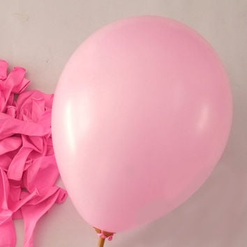 Latex Balloons Party Supplies, 12-inch, 12-piece, Pink