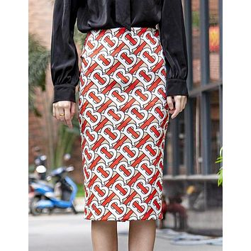 Burberry Fashion New More Letter Print Leisure Skirt Women