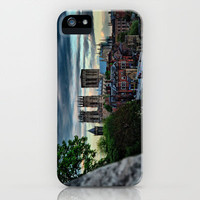 York Walls leading to York Minster at Sunset  iPhone & iPod Case by Karl Wilson Photography