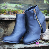 Lost Creek Black Leather Booties