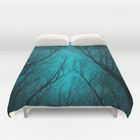 Endure the Darkness (Night Trees Silhouette 2) Duvet Cover by soaring anchor designs ⚓ | Society6