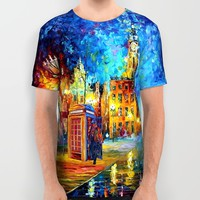 Sherlock and Big ben starry the night iPhone 4 4s 5 5c 6, pillow case, mugs and tshirt All Over Print Shirt by Three Second