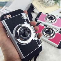 Retro Camera Case Cover for iPhone 7 7Plus & iPhone se 5s 6 6 Plus +Gift Box