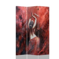 Asia Direct 5471 3 panel flamenco dancer woman pastel look room divider shoji screen on canvas print