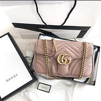 GUCCI classic wave pattern women's chain bag shoulder bag
