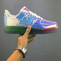 NIKE Air Force 1 Fashion new breathable running sports reflective colorful couple shoes